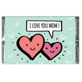 I love you mom (2 hearts)