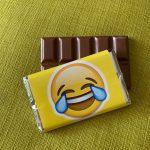 Face with Tears of Joy emoji | medium | chocolate bar | sweetalk