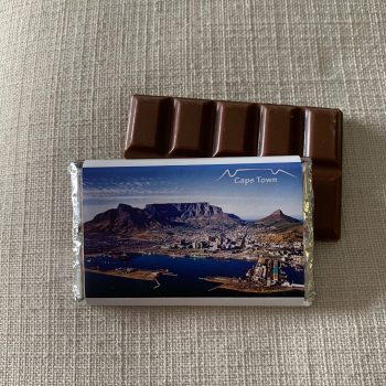 cape town the table mountain south africa | chocolate souvenir | medium | chocolate bar | sweetalk