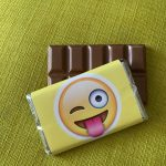 emoji stuck out tongue | medium| chocolate bar | sweetalk