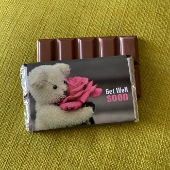 get well soon | medium | chocolate bar | sweetalk