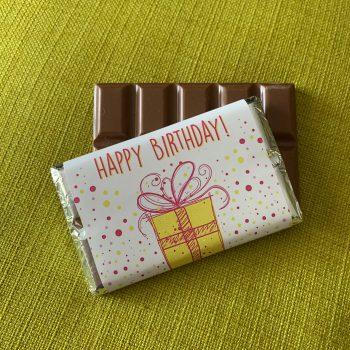 happy birthday with classic design | medium | chocolate bar | sweetalk