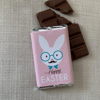 Happy Easter chocolate with pink background | sweetalk