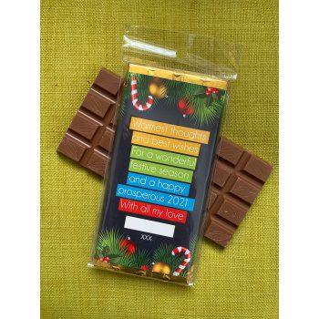 merry christmas chocolate greetings gift   bar   sweetalk