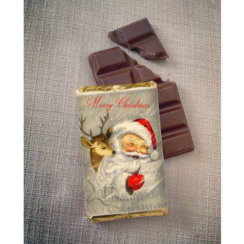 merry christmas chocolate senta and deer   sweetalk