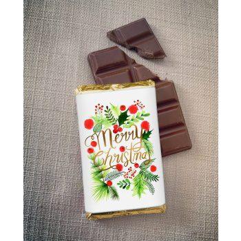 merry christmas chocolate traditional design   sweetalk